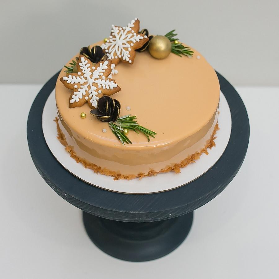 Муссовый торт «Карамельный» 1 кг.