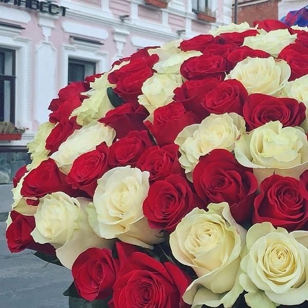 101 эквадорская роза 60 см.