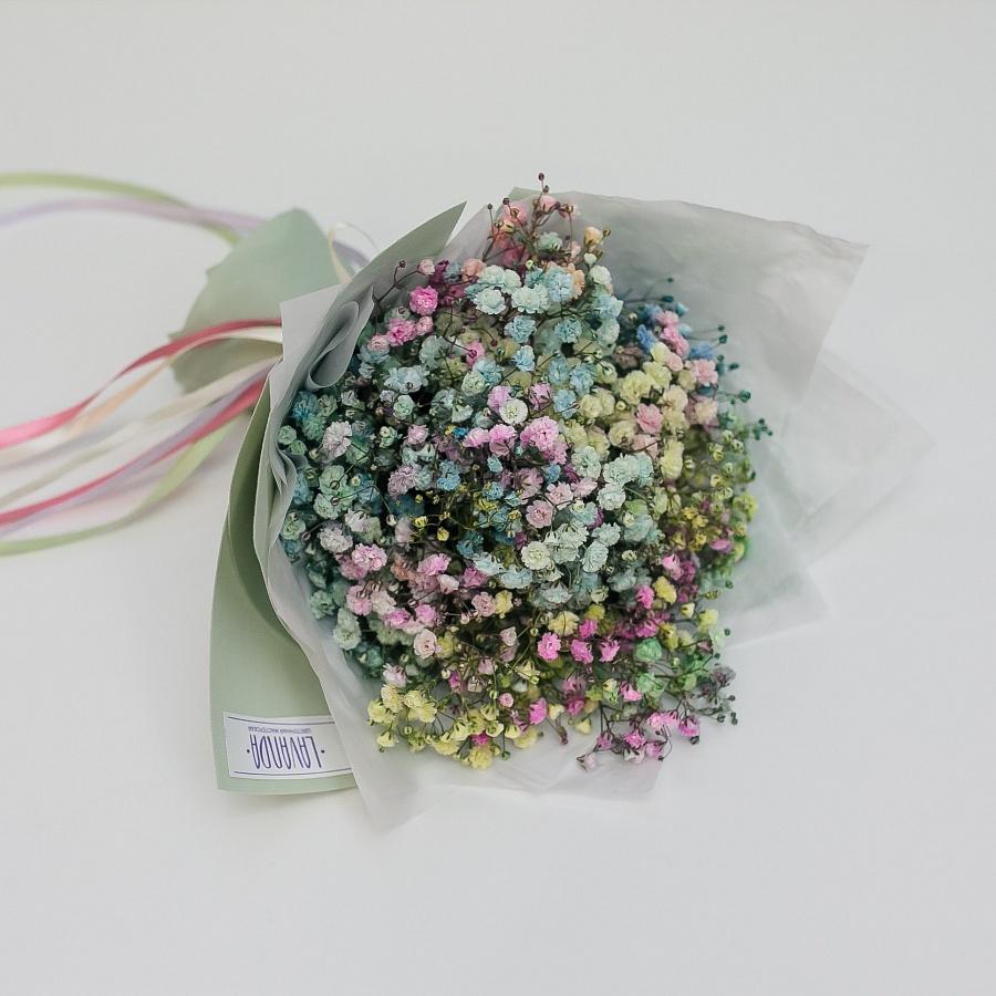 Букетик цветных разноцветных гипсофил