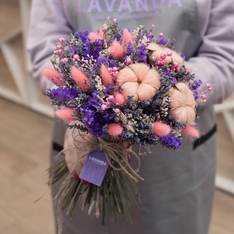 Дизайнерский букет сухоцветов