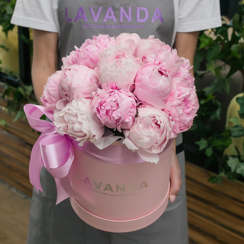 Воздушная коробочка розовых пионов