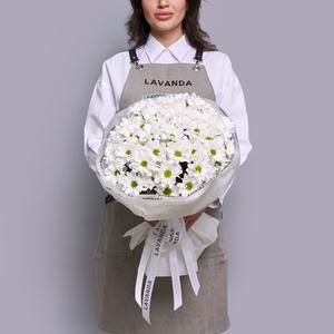 Монобукет белых хризантем бакарди