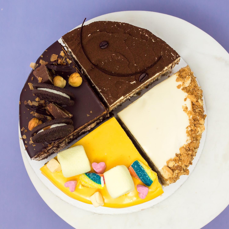 Торт из 4 половинок (ассорти) 1.2 кг.
