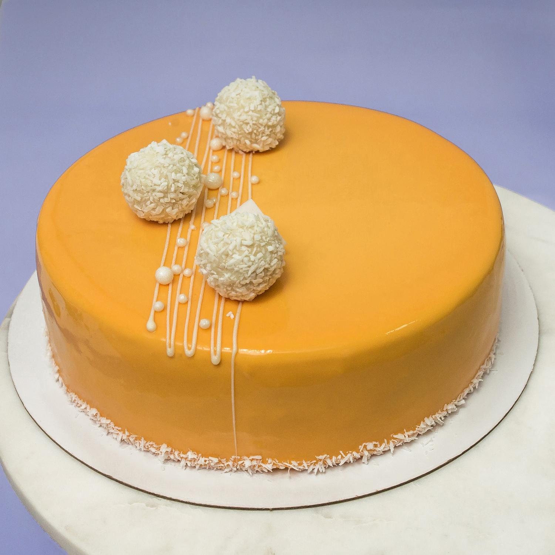Муссовый торт «Персик-маракуйя» 1 кг.