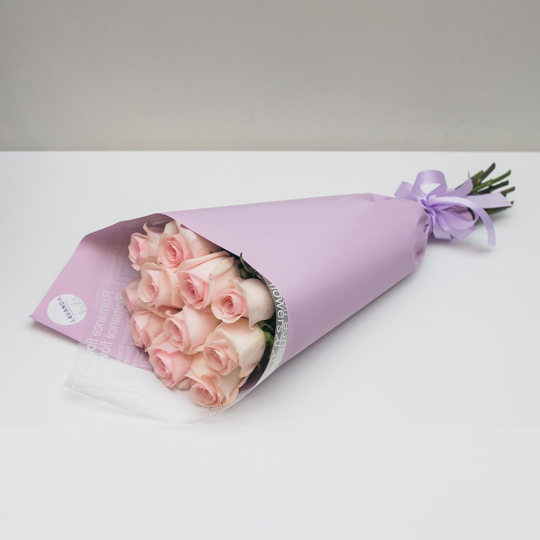 11 розовых Эквадорских роз 50 см.