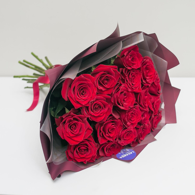 19 Эквадорских роз 50 см. в стильной пленке