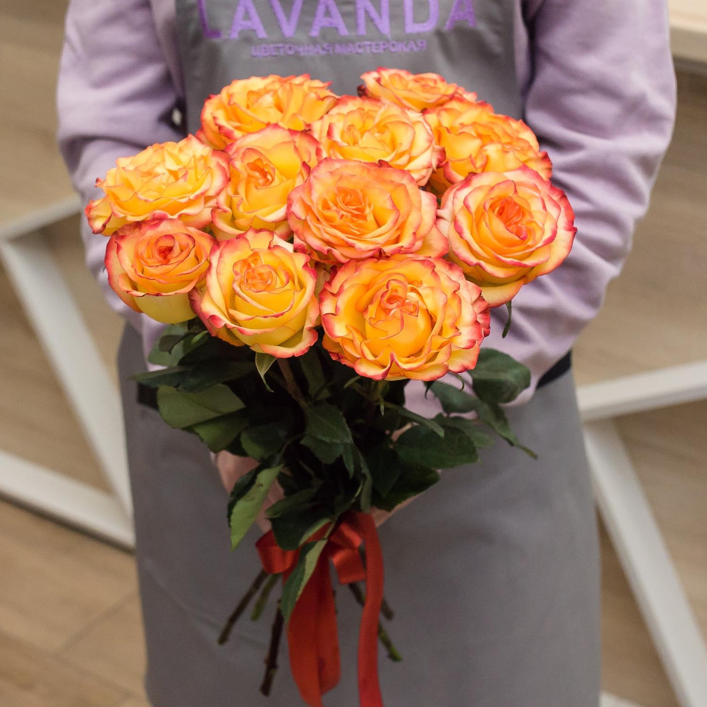 11 роз сорта Хай Меджик 50 см.